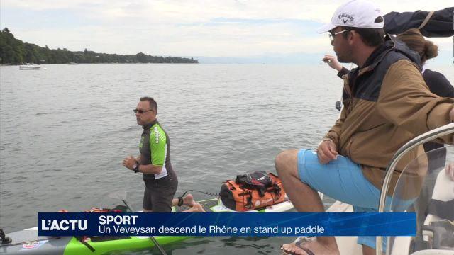 Il descend le Rhône en stand up paddle