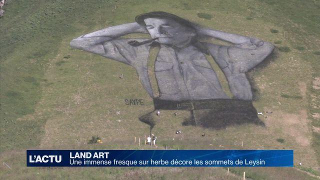La plus grande fresque sur herbe au monde à Leysin