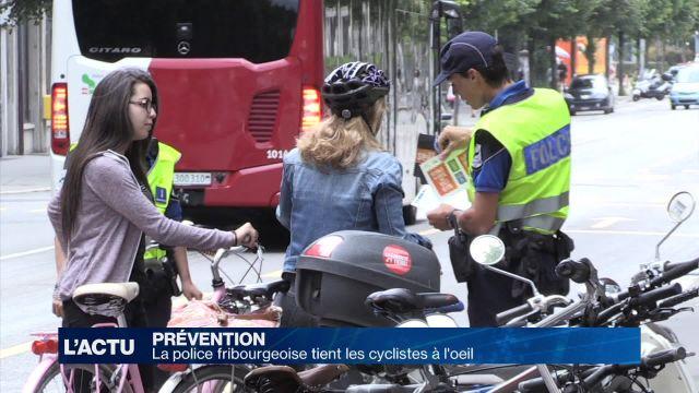 La police fribourgeoise tient les cyclistes à l'oeil