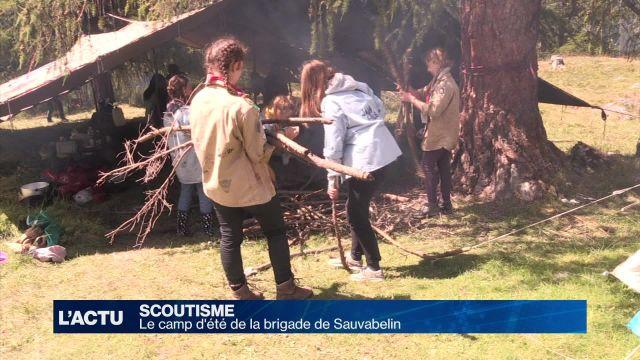 Les scouts de la brigade de Sauvabelin en camp d'été