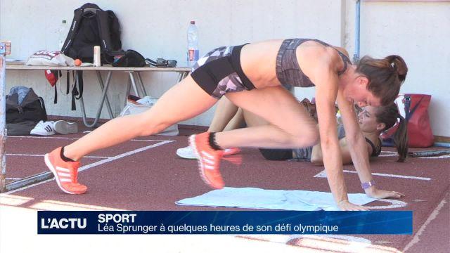 Lea Sprunger à quelques heures de son défi olympique