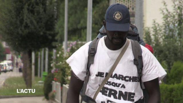Mamadou marche de Morges à Berne pour les migrants déboutés
