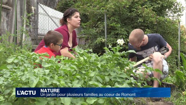 Un jardin pour plusieurs familles à Romont