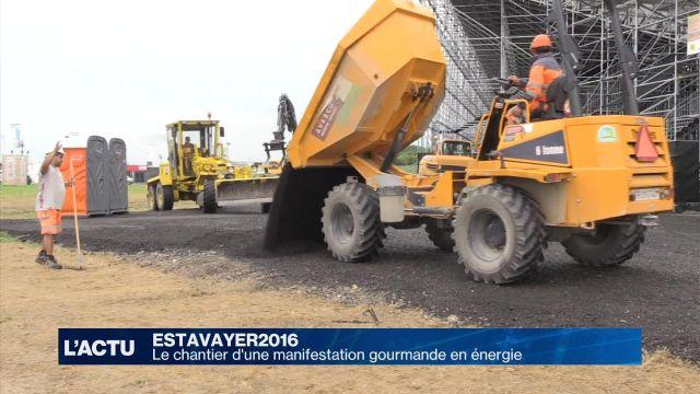 Des tonnes de câbles pour faire briller Estavayer2016