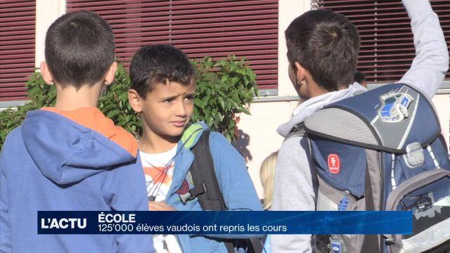 125'000 vaudois ont repris les cours