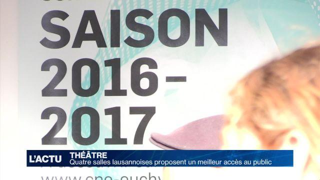 Encore plus d'accès aux théâtres lausannois