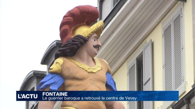 Le guerrier baroque a retrouvé le centre de Vevey