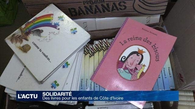 Des livres pour les enfants de Côte d'Ivoire