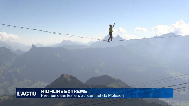 Highline Extreme: en équilibre à 2'000m d'altitude