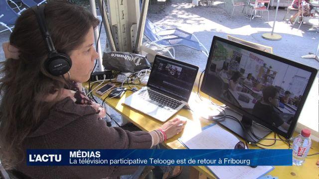La télé éphémère Telooge s'invite au Port de Fribourg