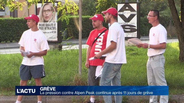La pression sur Alpen Peak continue après 11 jours de grève