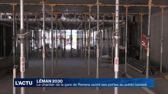 Le chantier de la gare de Renens ouvre ses portes au public