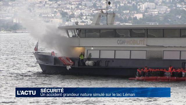 Un accident lacustre simulé sur le lac Léman