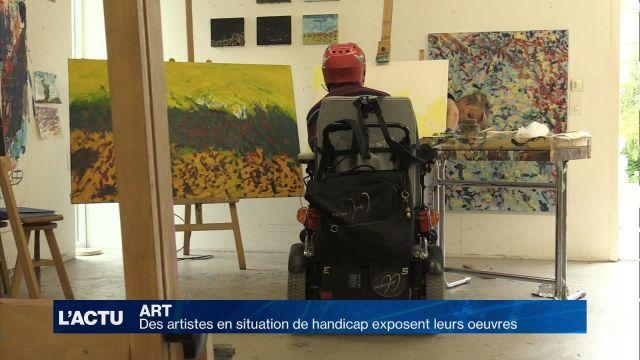 Des artistes en situation de handicap exposent leurs oeuvres