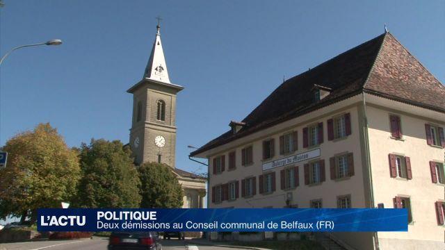 Deux démissions au Conseil communal de Belfaux (FR)