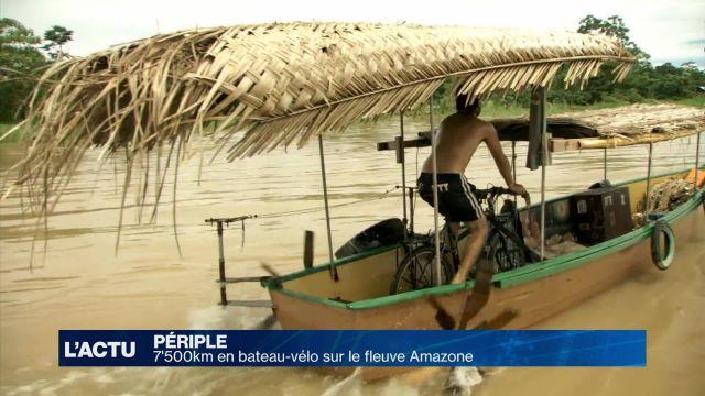 Il parcourt 7'500 km sur le fleuve Amazone
