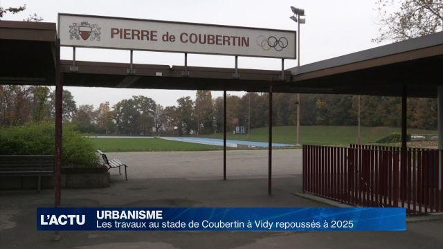 Les travaux au stade de Coubertin à Vidy repoussés à 2025
