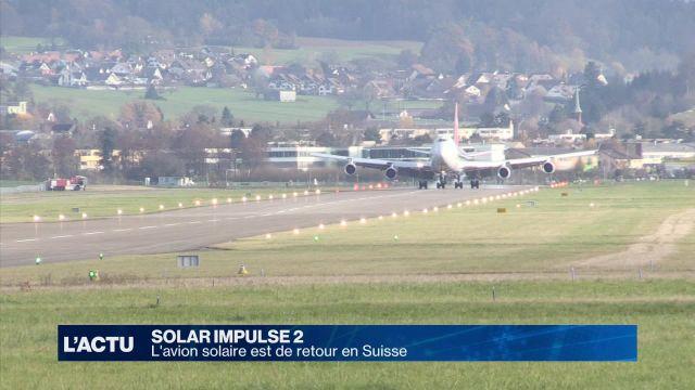 L'avion solaire est de retour en Suisse