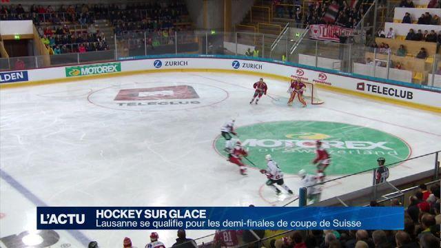 Le Lausanne HC passe en demi-finale de coupe de Suisse