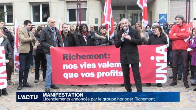 400 manifestants contre les licenciements chez Richemont