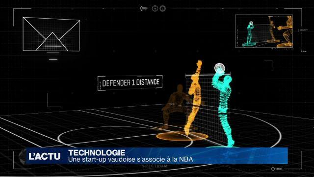 Une start-up vaudoise s'associe avec la NBA