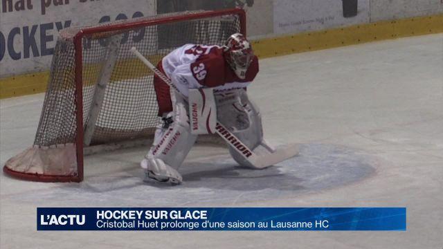 Cristobal Huet prolonge d'une saison au Lausanne HC