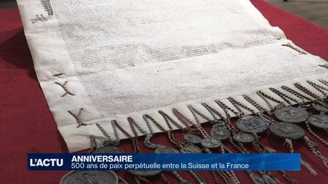 500 ans de paix perpétuelle entre la Suisse et la France