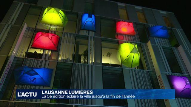 La 5e édition de Lausanne Lumières éclaire la ville