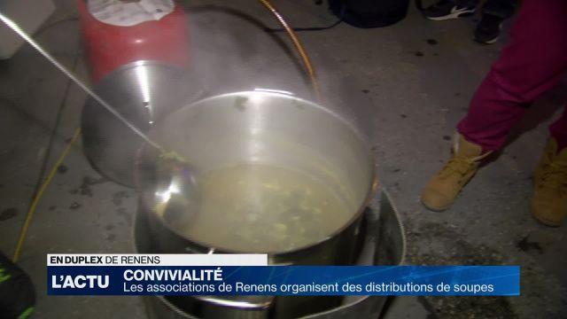 Les associations de Renens distribuent des soupes