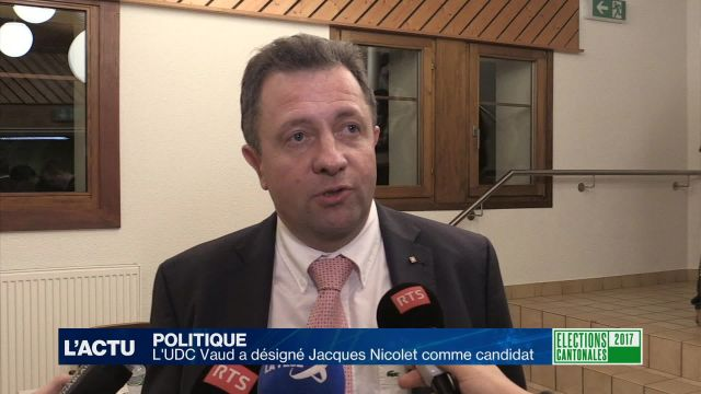 L'UDC Jacques Nicolet candidat au Conseil d'Etat vaudois