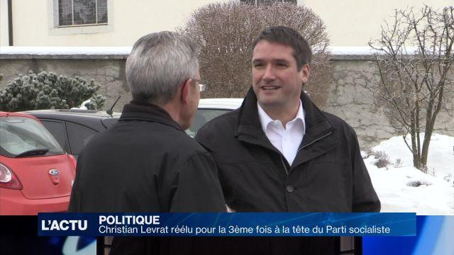 Christian Levrat réélu à la tête du Parti socialiste suisse