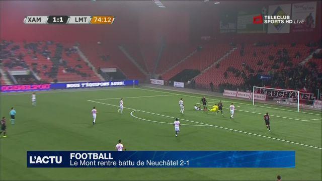 Football : Le Mont rentre battu de Neuchâtel 2-1