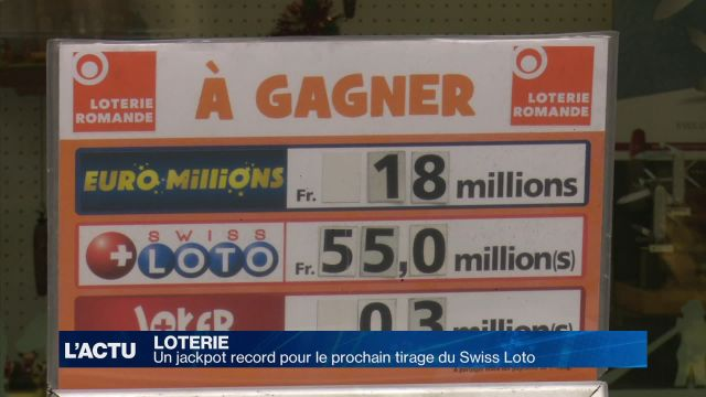 Un jackpot record pour le prochain tirage du Swiss Loto