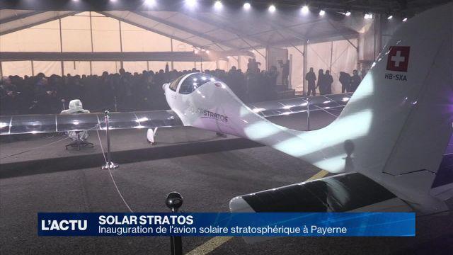 SolarStratos: l'avion stratosphérique inauguré à Payerne