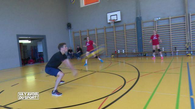 Loïc a testé le volleyball avec l'équipe nationale -18 ans