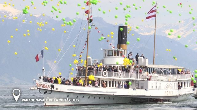 Parade navale de la CGN à Cully