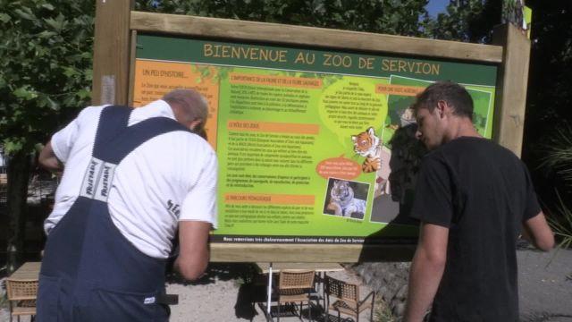 Une heure avec le responsable entretien du zoo de Servion