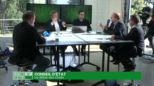 Elections cantonales vaudoises: 1er débat des chefs