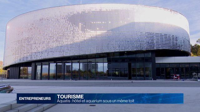 Aquatis: hôtel et aquarium sous un même toit