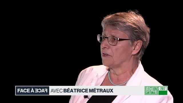 Face à face avec Béatrice Métraux