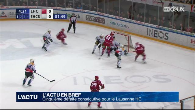 Cinquième défaite de suite pour le Lausanne HC