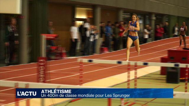 Un 400m de classe mondiale pour Lea Sprunger