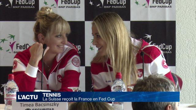 La Suisse reçoit la France en Fed Cup