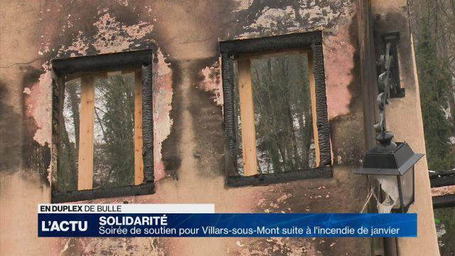 Soirée de soutien pour Villars-sous-Mont suite à l'incendie