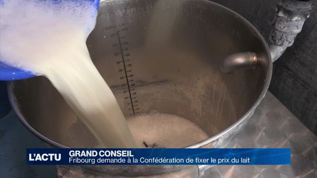 Fribourg demande à la Confédération de fixer le prix du lait