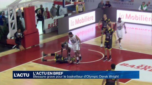 Blessure grave pour le basketteur d'Olympic Derek Wright