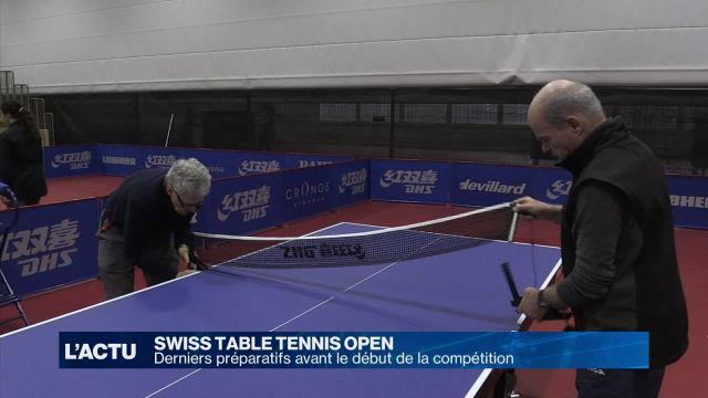 Derniers préparatifs pour le Swiss Table Tennis Open