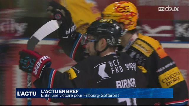 Enfin une victoire pour Fribourg-Gottéron