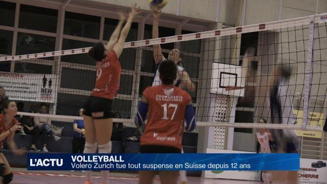 Volleyball : Volero Zurich tue tout suspense depuis 12 ans