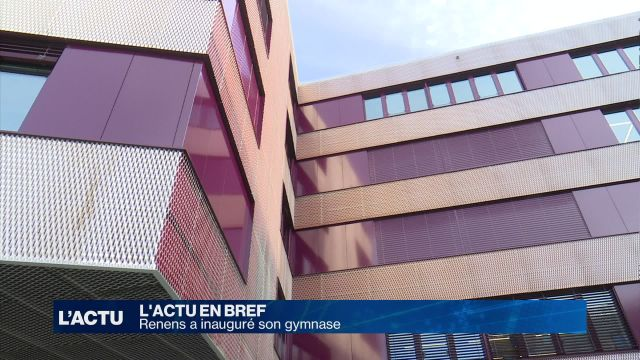 Renens a inauguré son nouveau gymnase